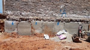 Underpin neighbours wall