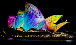 Lighted Opera House
